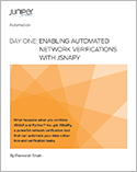 Day One: Enabling Automated Network Verifications with JSNAPy