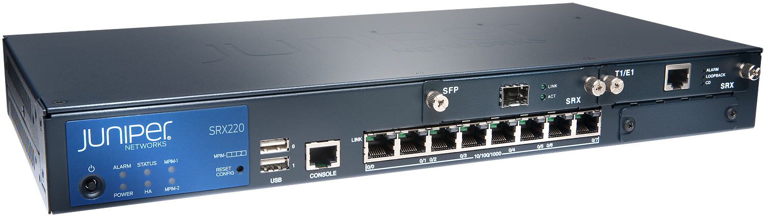 Juniper networks srx240 services gateway for the branch.