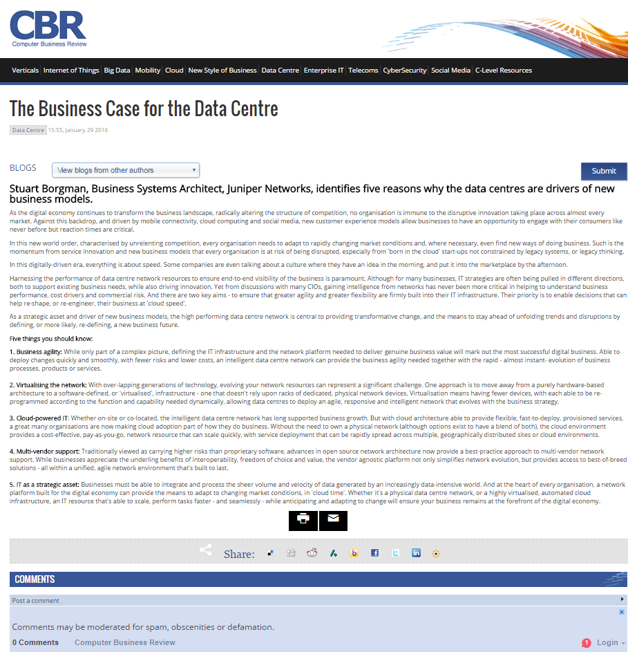 The transportation network business process efficiency lower costs - Community Data Center Of The Future 5 Key Elements