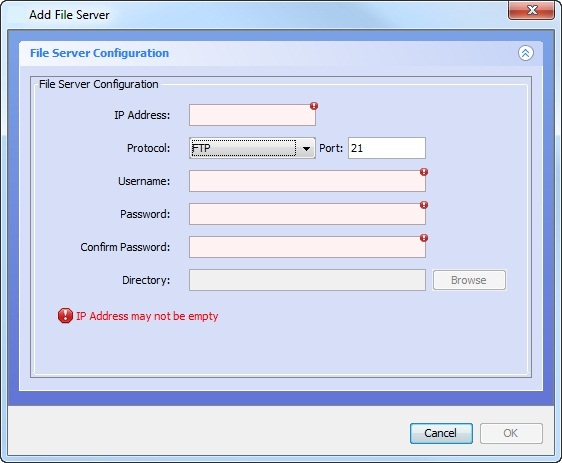 Adding an FTP or SFTP Server - Technical Documentation