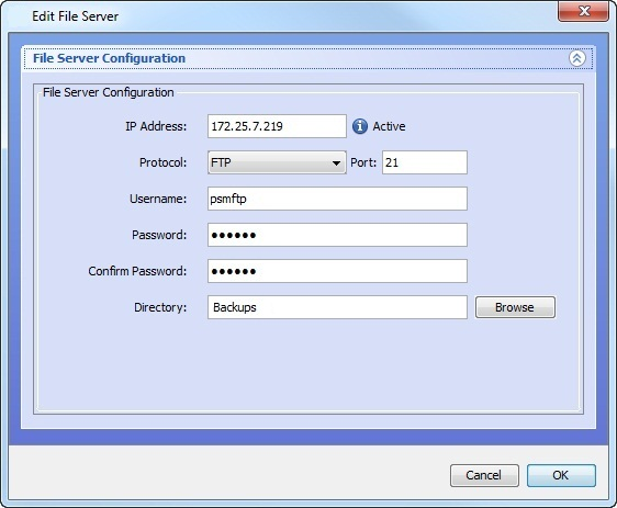 Modifying an FTP or SFTP Server's Configuration - Technical