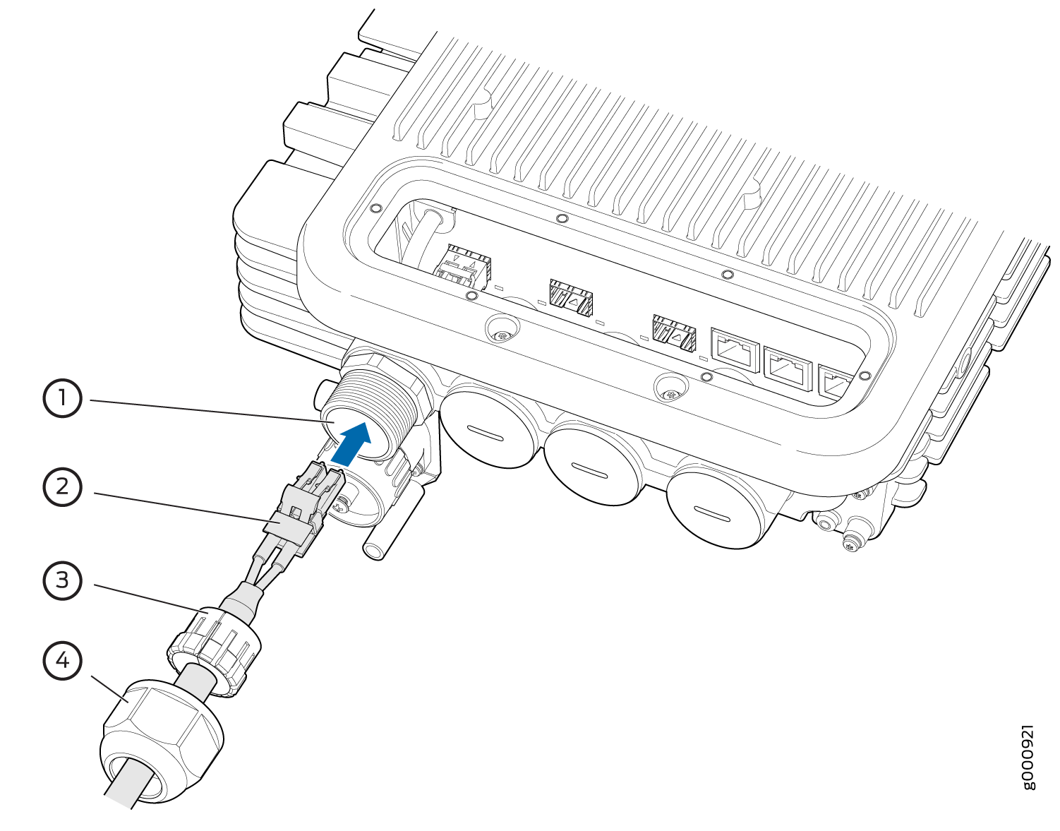 ACX500 Outdoor Router Cable Connector Unit