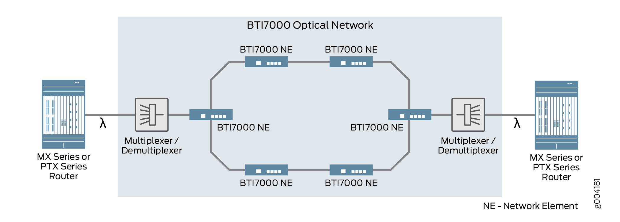 Optical Service Between Device Endpoints