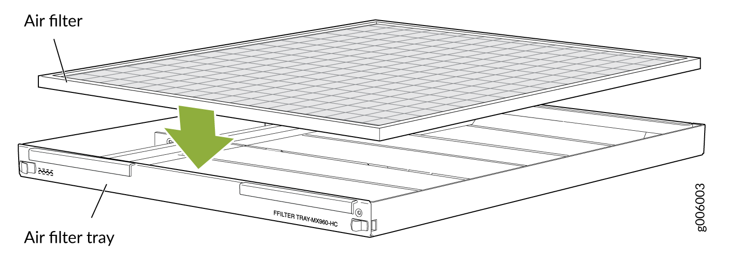 High-Capacity Filter Tray with Air Filter