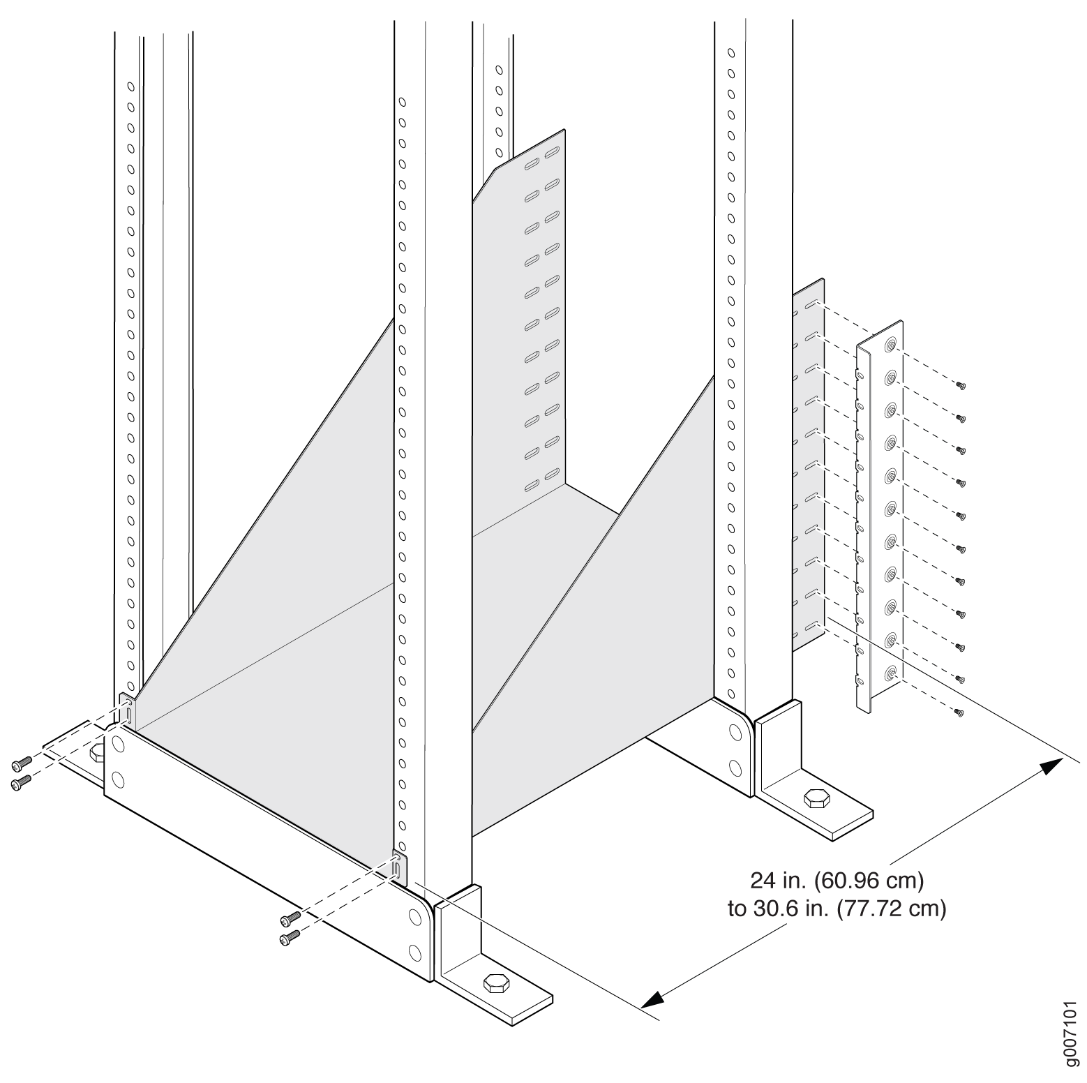 Installing the Mounting Hardware for a Four-Post Rack or Cabinet