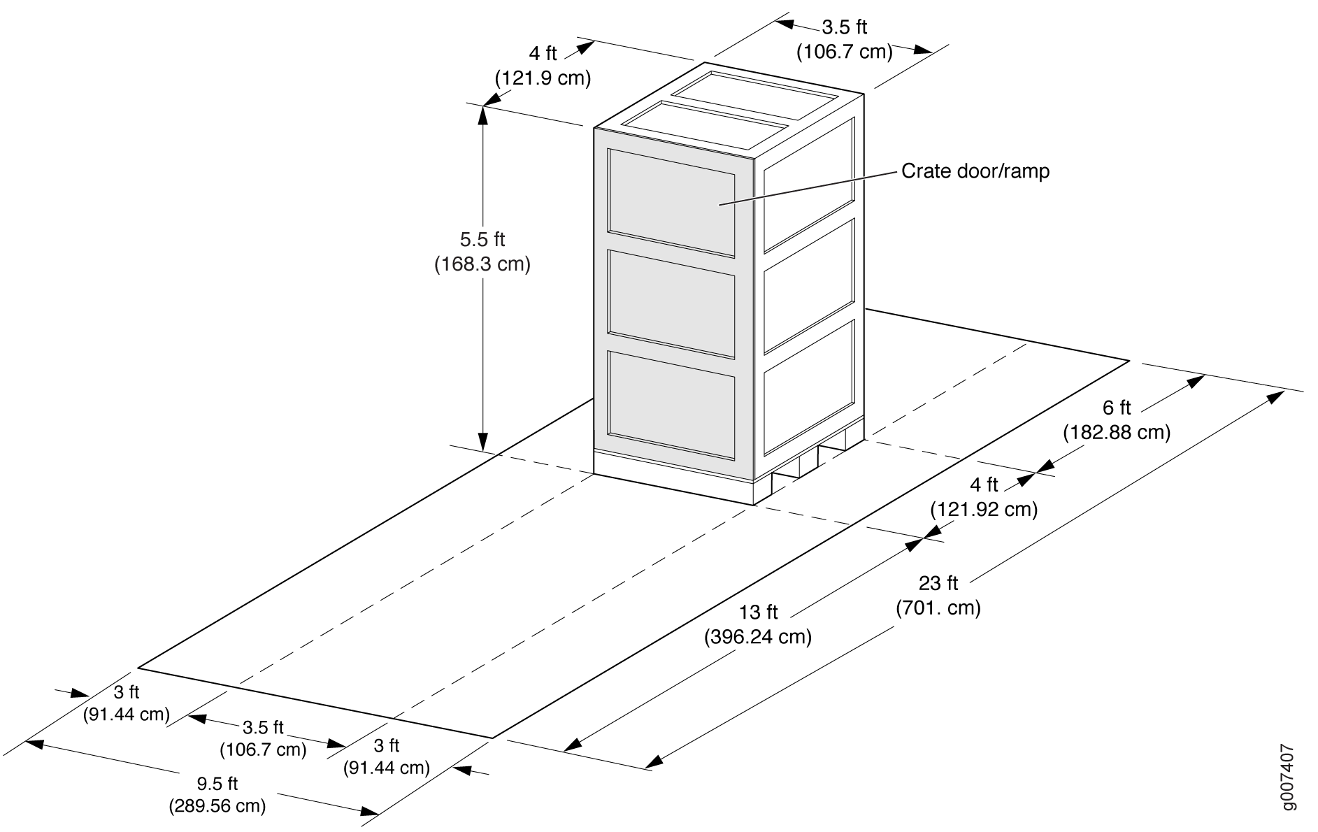 MX2008 Shipping Crate Dimensions (Smaller)