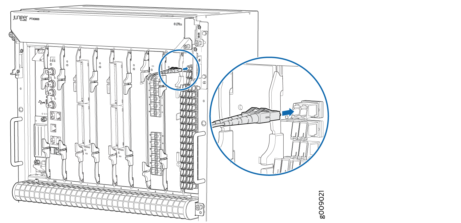 Replacing An Ptx3000 Iplc Cable Technical Documentation Support Fiber Optic Schematic Connecting To
