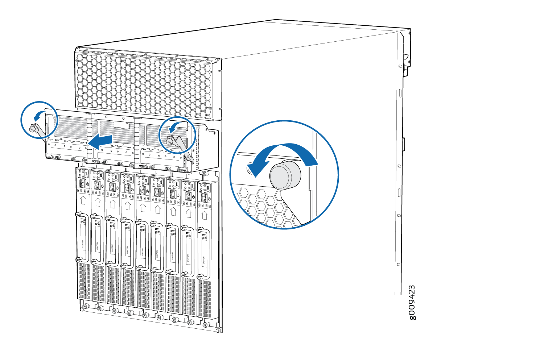 replacing an mx2000 dc power distribution module