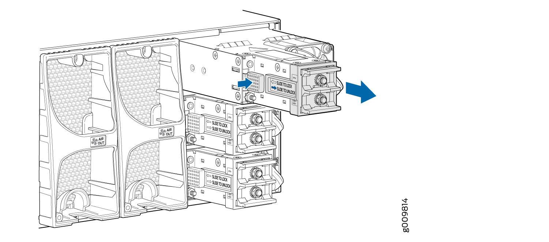replacing an mx10003 dc power supply