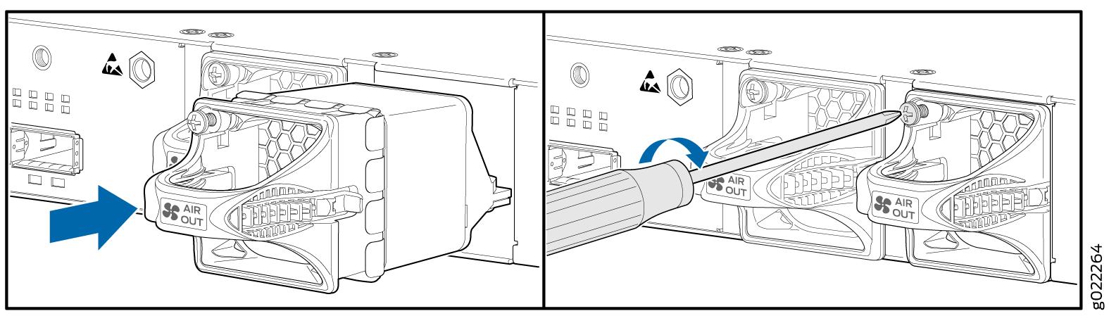 Installing a Fan Module in an EX3400 Switch - TechLibrary - Juniper ...