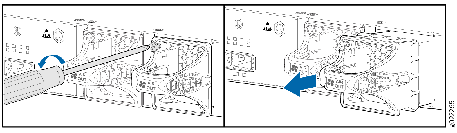 Removing a Fan Module from an EX3400 Switch