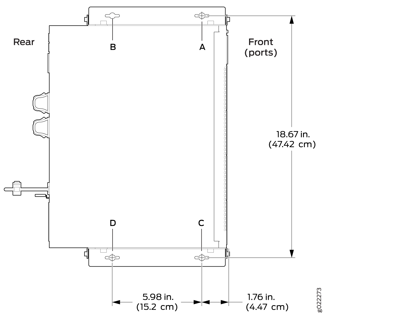 Measurements for Installing Mounting Screws