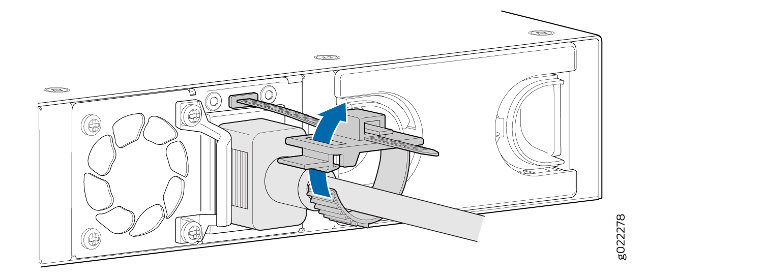 Connecting an AC Power Cord to the AC Power Cord Inlet