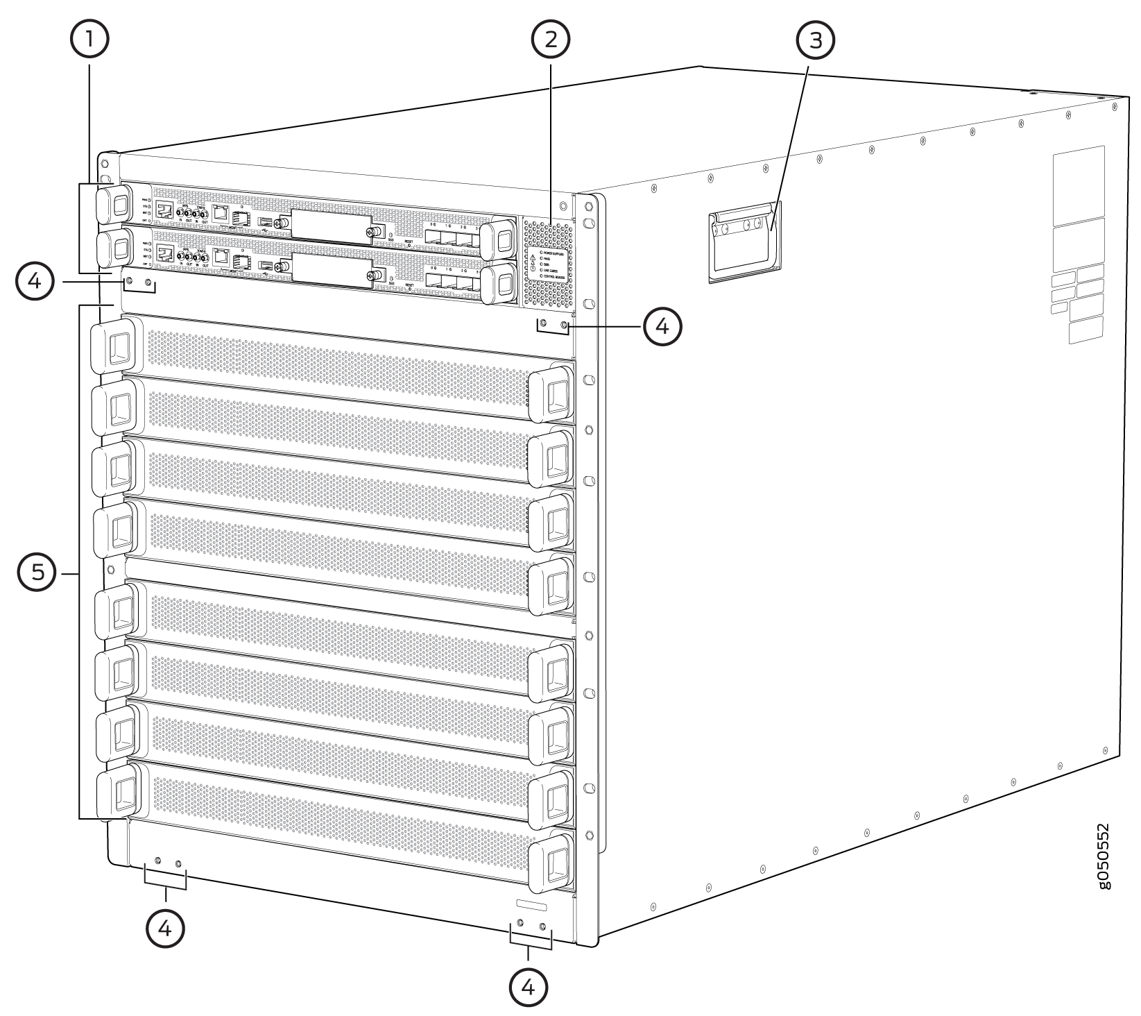 PTX10008 Chassis Front
