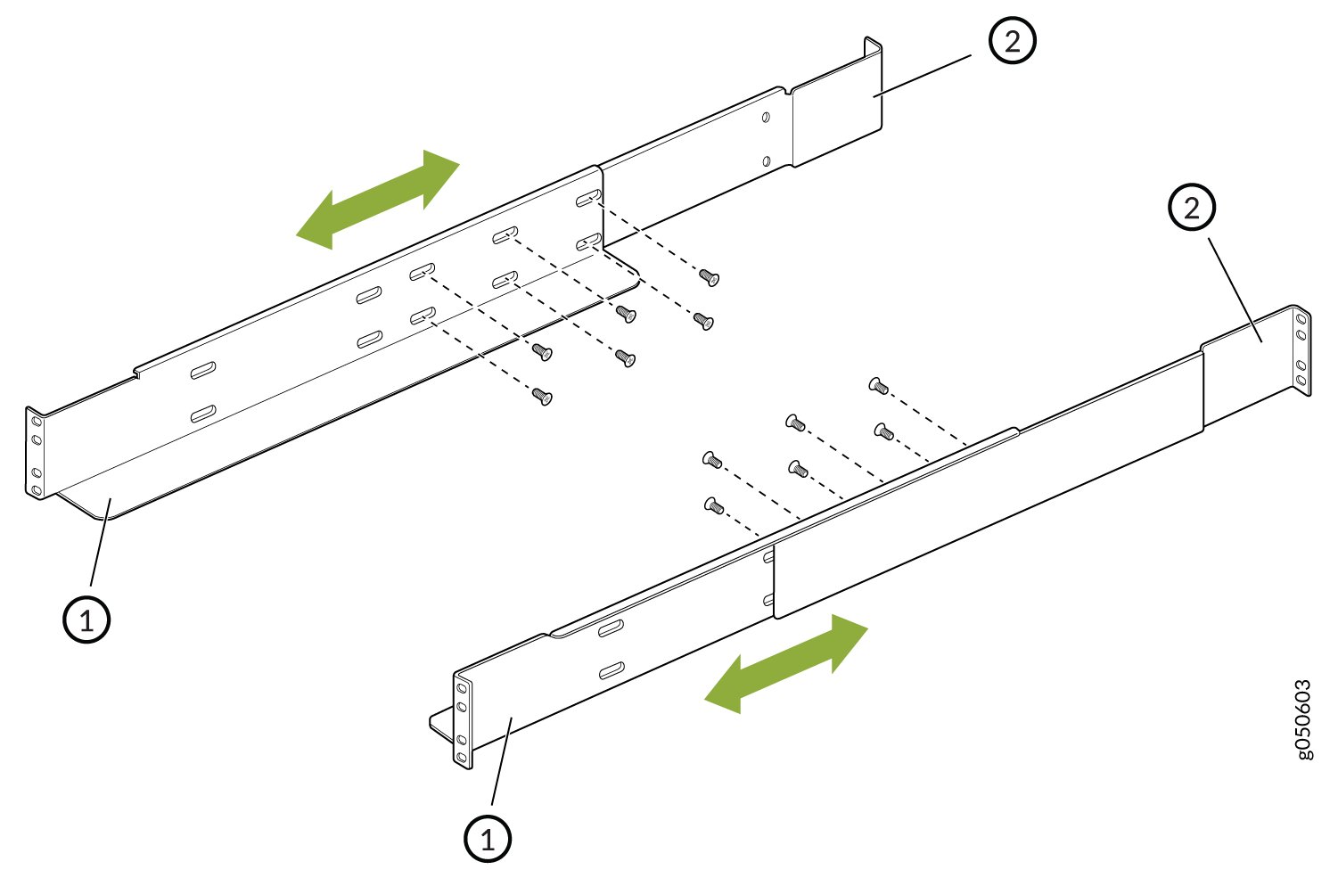 Mounting Brackets for Four-Post Rack Installation