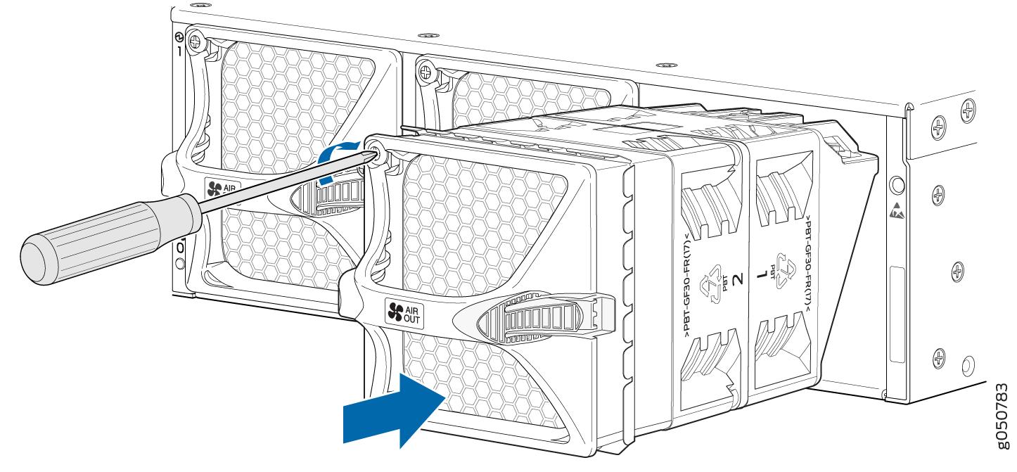 installing a fan module in a qfx10002 - techlibrary