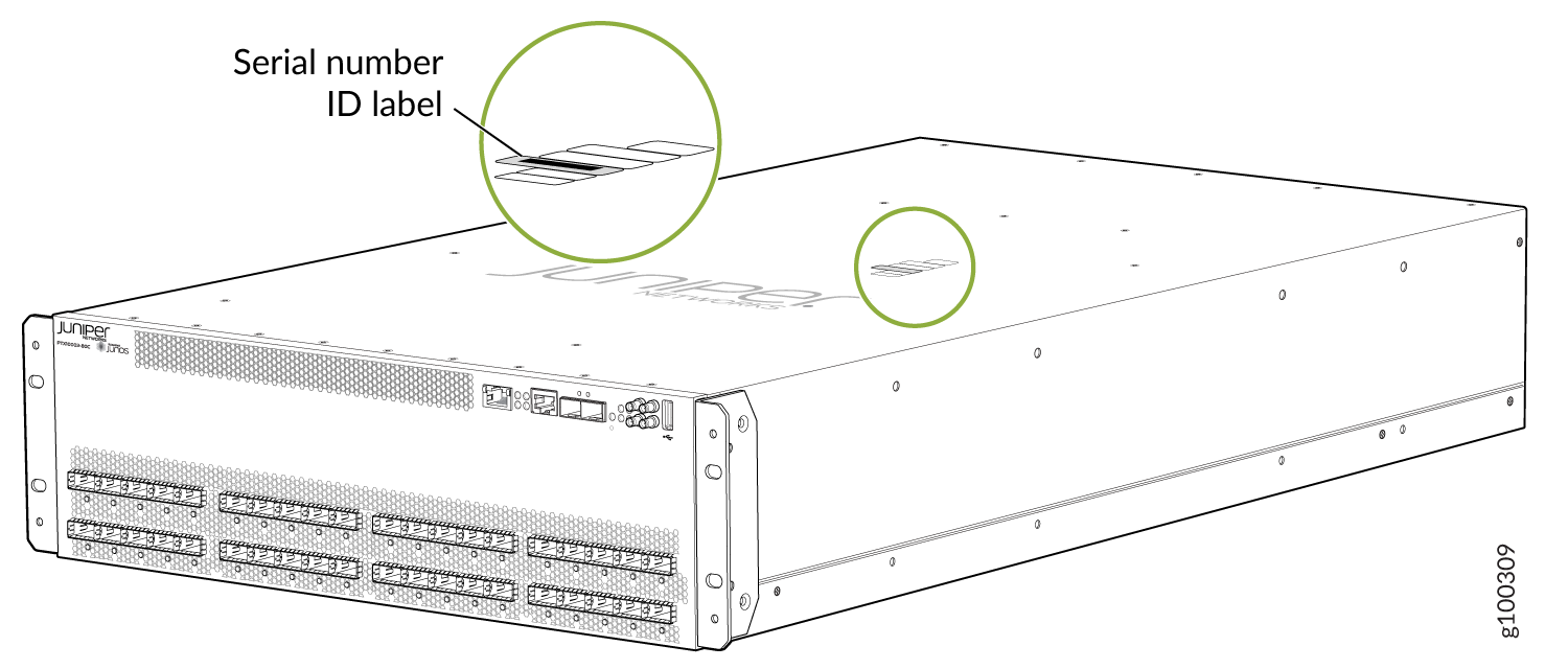 Locating the PTX10003-80C Chassis Serial Number