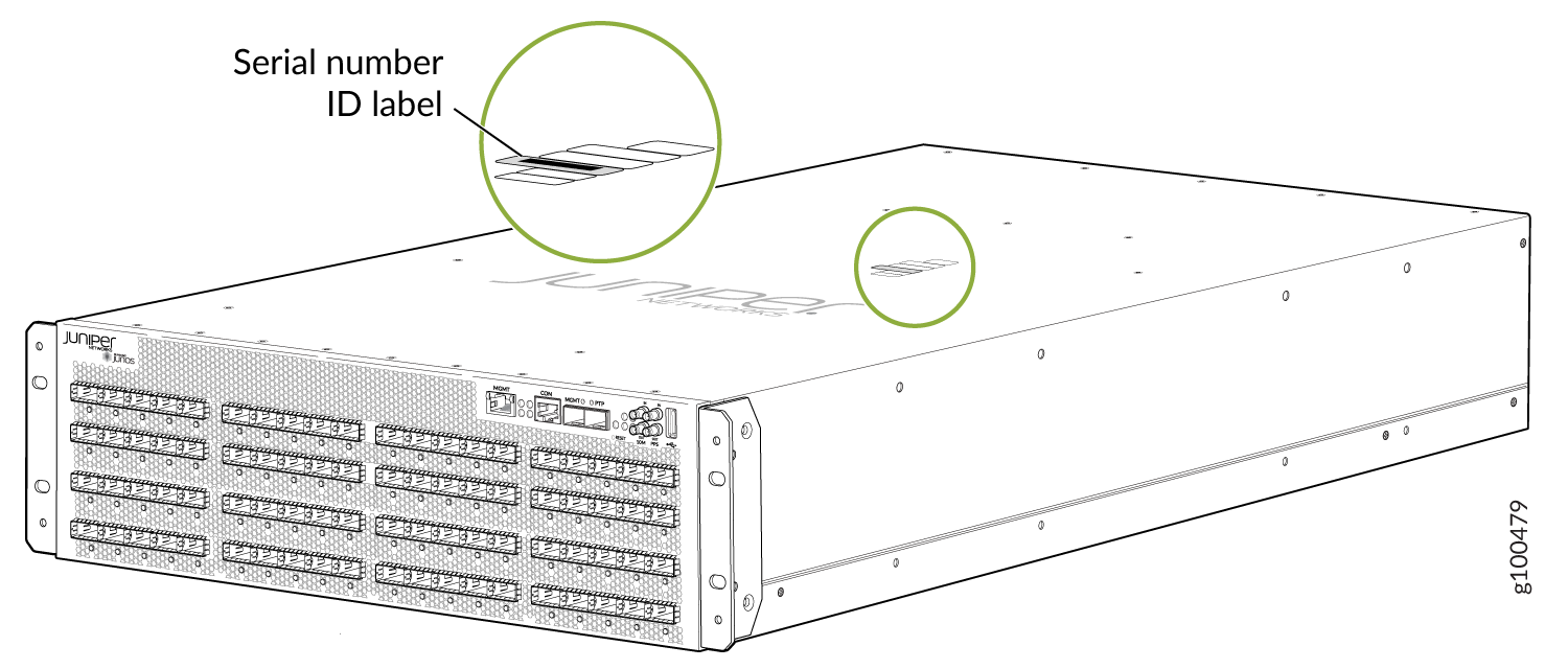 Locating the PTX10003-160C Chassis Serial Number