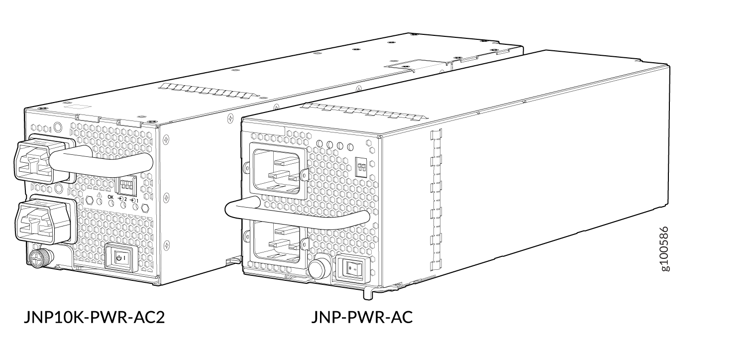 Comparison Between the JNP10K-PWR-AC2 and the JNP10K-PWR-AC Power Supplies
