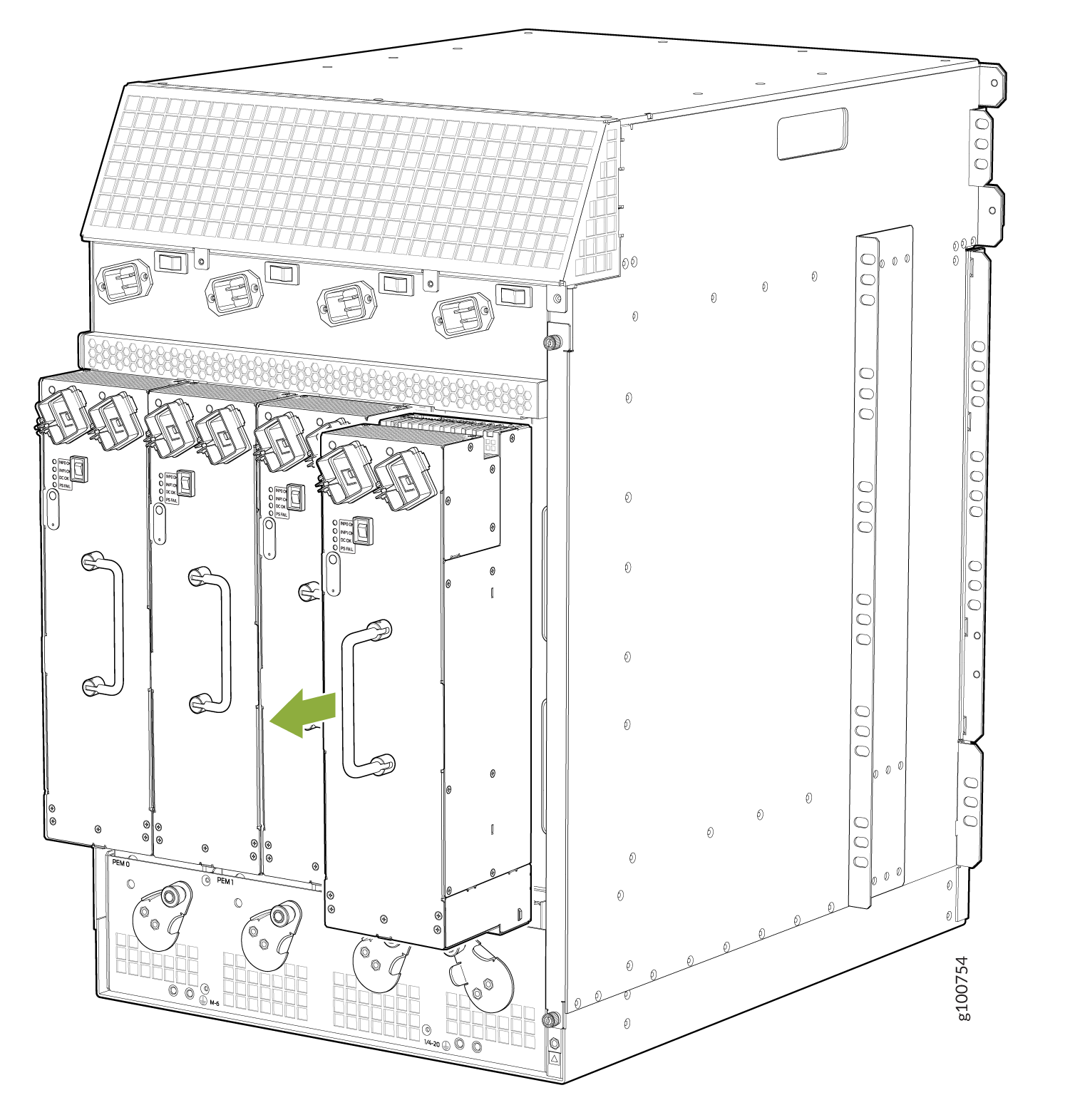 Removing a High-Capacity Second-Generation AC Power Supply