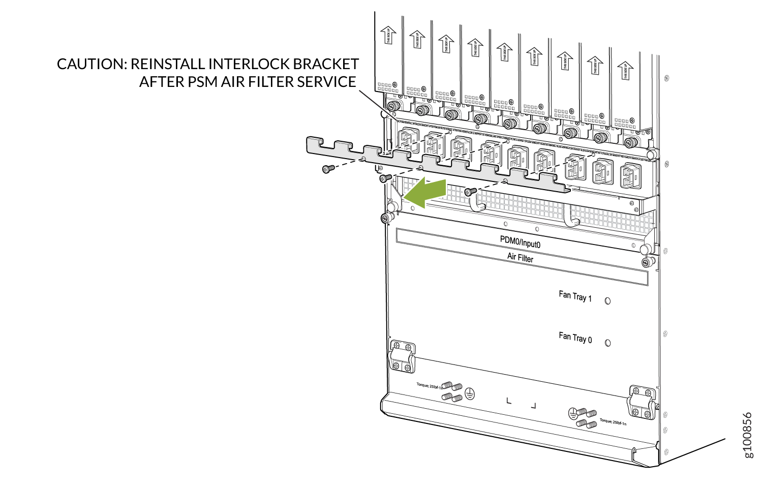 Removing the Bracket from the Universal (HVAC/HVDC) PDM