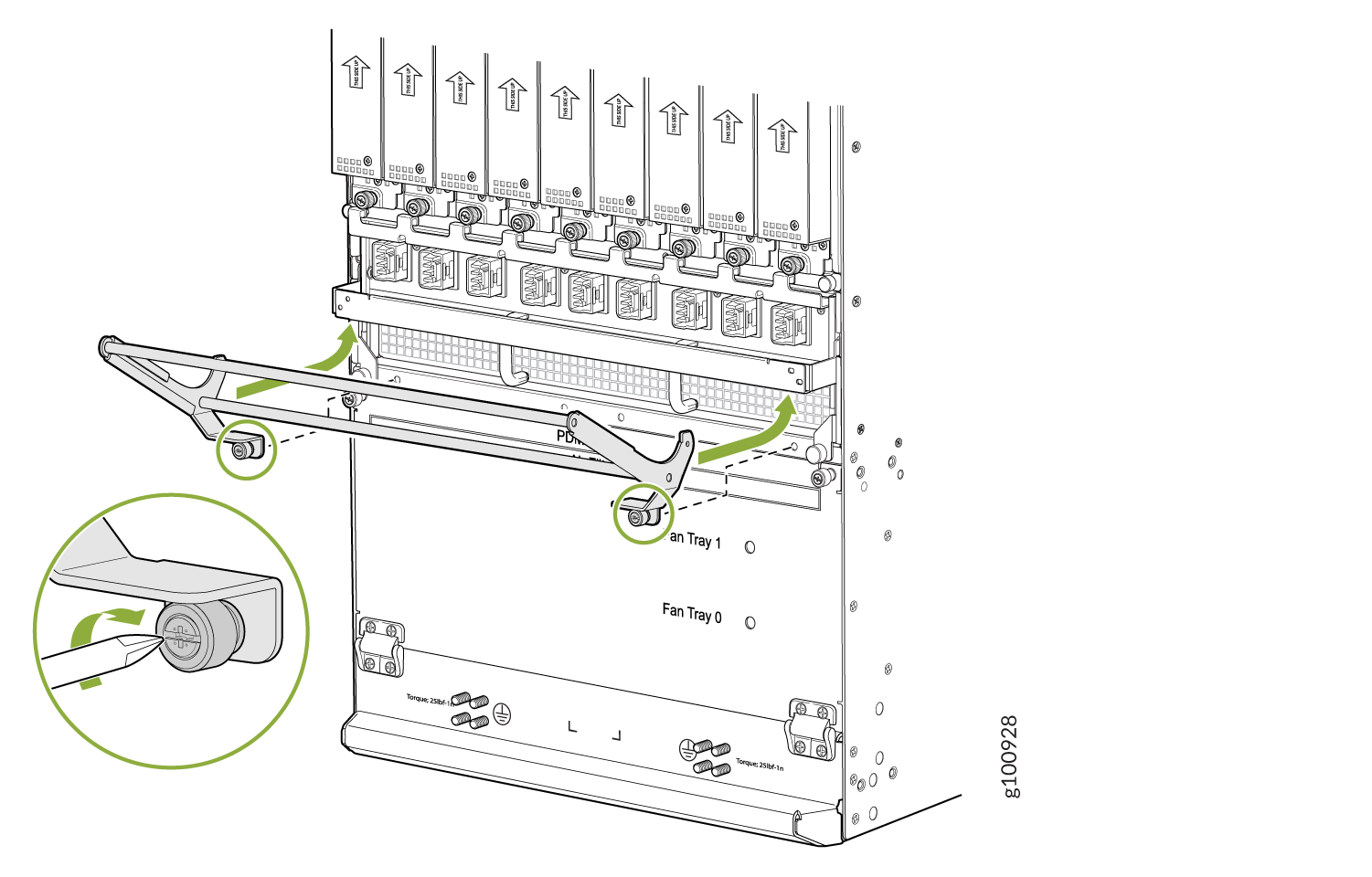 Installing the DC Cable Manager on the DC PDM (240 V China) and Universal (HVAC/HVDC) PDM
