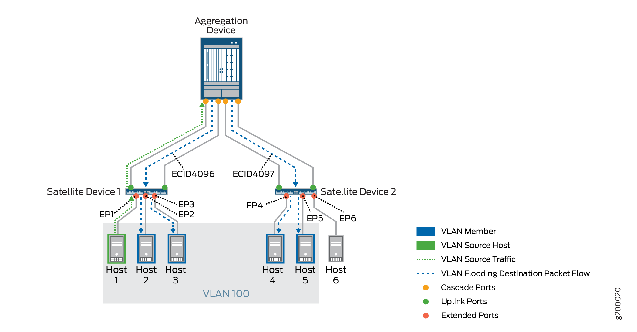 Local Replication with VLAN Flooding