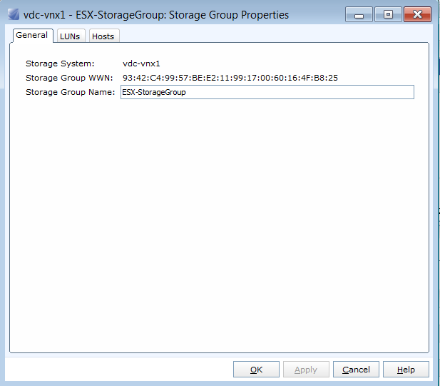 Storage Group Created