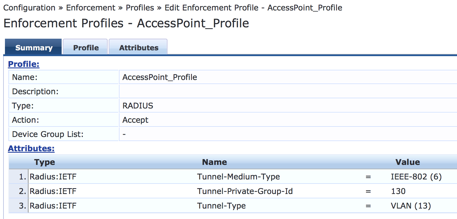 Example: Configuring Device Profiling with EX Series