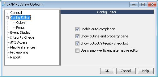 General Config Editor Options