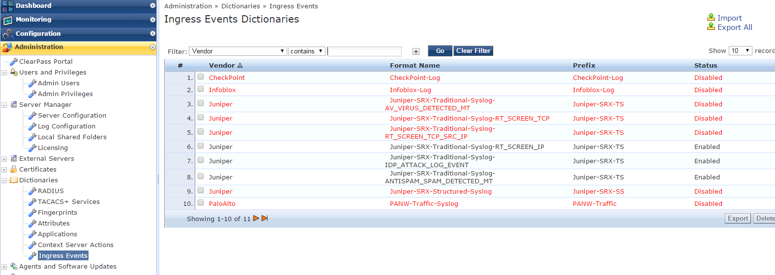 Example 3: Configuring Threat and Attack Detection and Notification