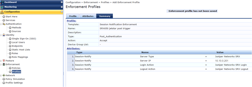 Example 1: Configuring Endpoint Authentication and
