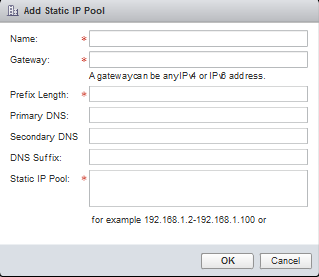 Add Static IP Pool Page