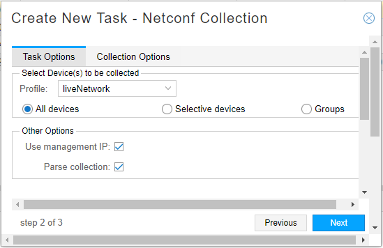 Scheduling Device Collection for Analytics via Netconf - TechLibrary