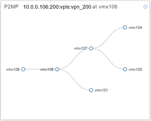 P2MP Group Graphical Tree Diagram
