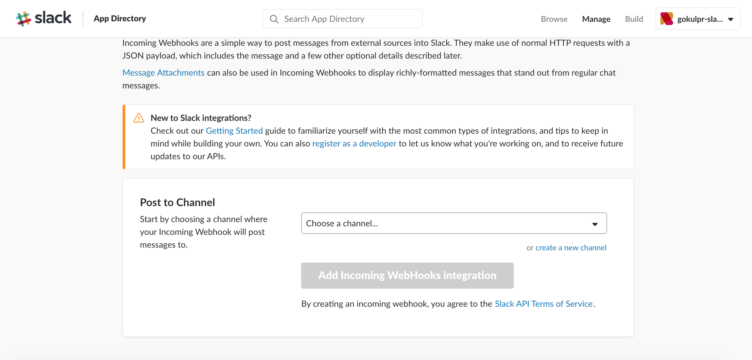 Configuring Slack Alerts in AppFormix - Technical