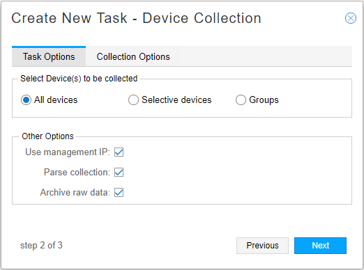 Scheduling Device Collection for Analytics - TechLibrary - Juniper