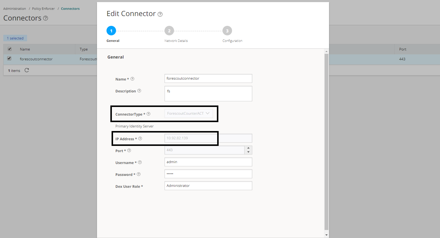 Edit Connector Page