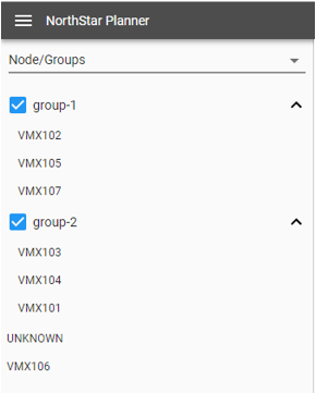 Example Node/Groups List