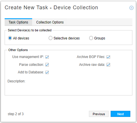 Device Collection Task, All Devices