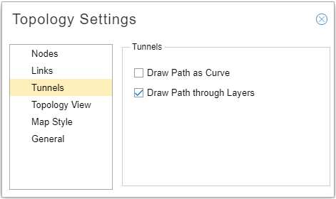 Enabling the Draw Path Through Layers Function