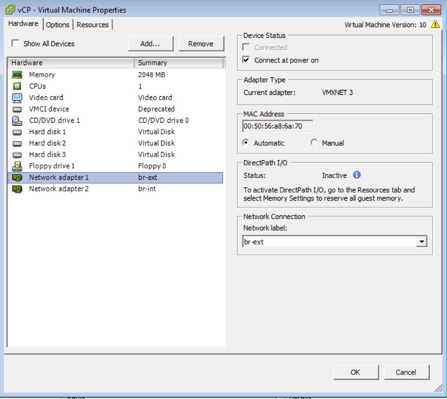 Installing vMX with OVA Files - TechLibrary - Juniper Networks