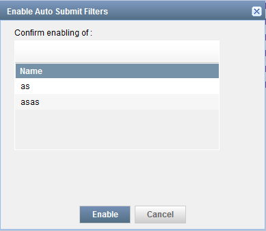 Enable Auto Submit Filters Dialog Box