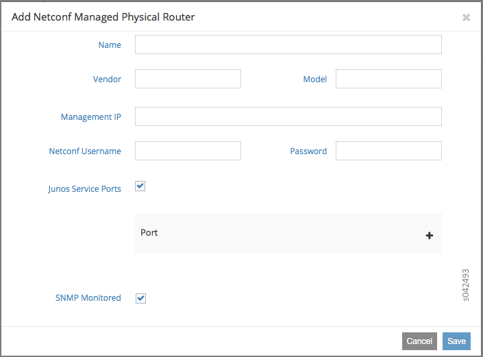 Using Device Manager to Manage Physical Routers