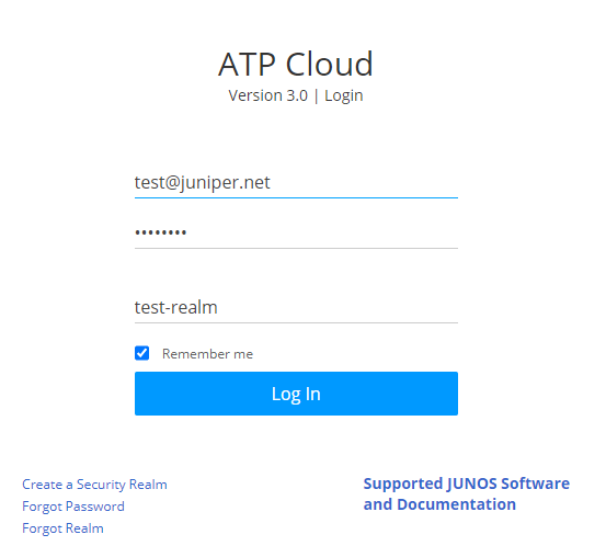 Juniper ATP Cloud Login