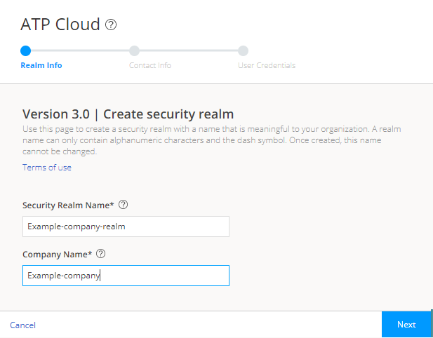 Creating Your Juniper ATP Cloud Realm Name