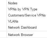 Main Window Network Menu