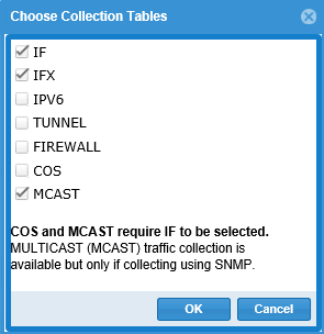 Choose Collection Tables