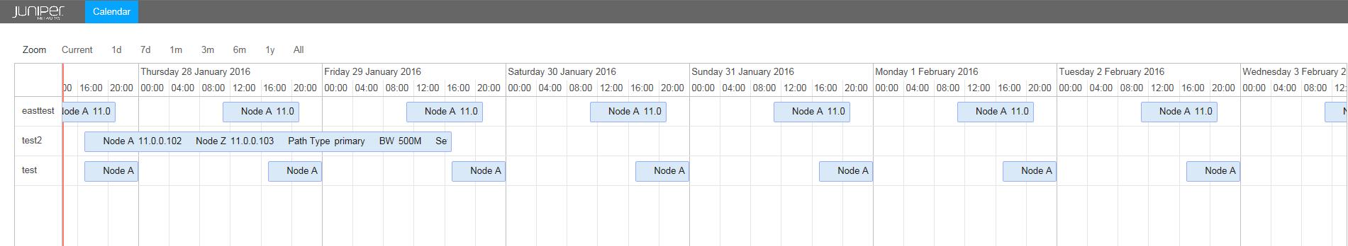 Bandwidth Calendar - TechLibrary - Juniper Networks