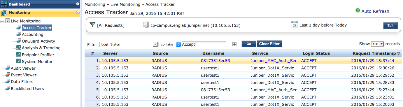 Example: Configuring Device Profiling with EX Series Switches and